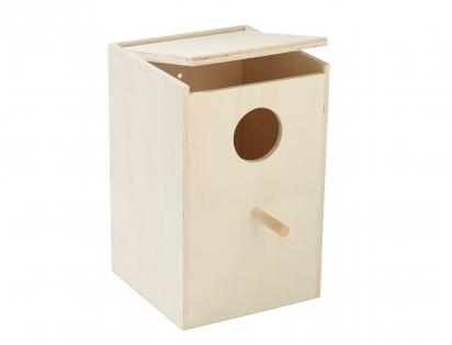 Wooden birdhouse parakeet 15x14,5x22,2cm Ø4,5cm