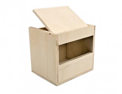 Wooden birdhouse exotics open 13x10,5x12cm
