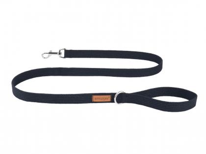Ami Leash Cotton black 140cmx30mm XL