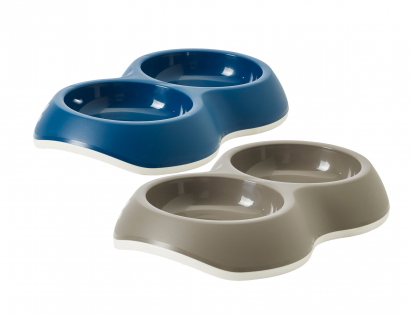 Feeding bowl Delice Double 2x0,2L Ass.