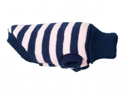 Ami Sweater Glasgow roze strepen 28cm