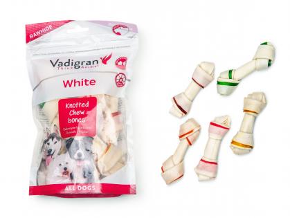 White Geknoopt kauwbeen multicolor