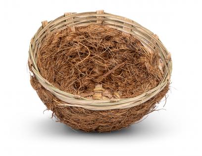 Broednest kanarie riet & kokos