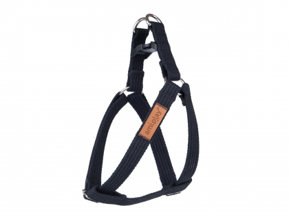 Ami Harness Cotton adjustable black 40-75cmx25mm L