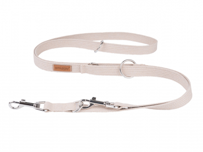 Ami Leash Cotton 6in1 beige 100-200cmx25mm L