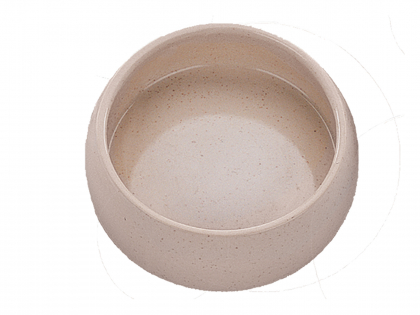 Feedercup bird earthenware natural