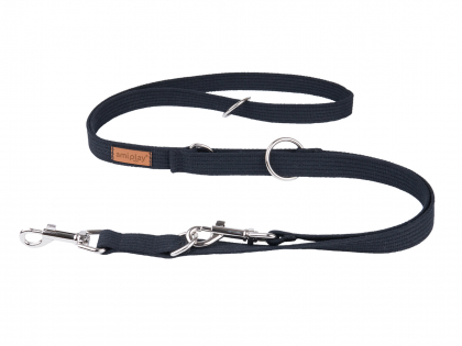 Ami Leash Cotton 6in1 black 100-200cmx20mm M