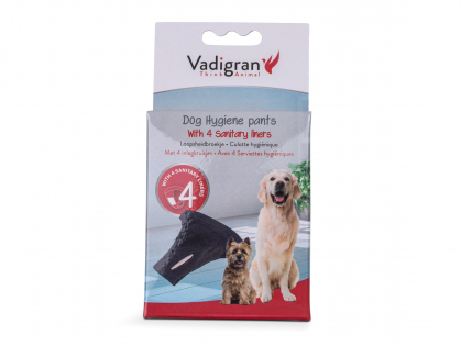Dog panties with 4 panty-shields
