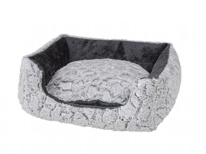 Panier Mounty Ice gris/anthracite 50x40x18cm