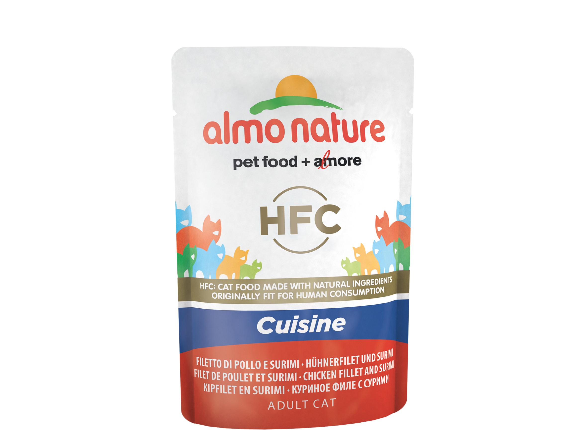 Almo Nature Cat Wet Food Cat Hfc Cats Cuisine Chicken Surimi